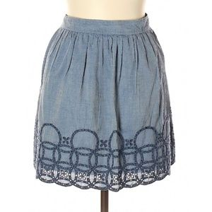 GAP Embroidered Cotton Skirt